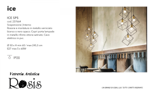 Sospensione Ice by Ideal Lux