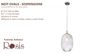 Sospensione Nest Ovale by Metal Lux
