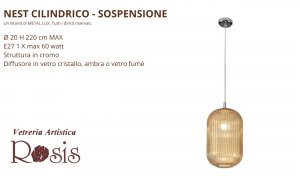 Sospensione Nest Cilindrico by Metal Lux